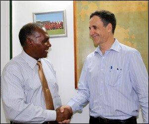 Premier Amory and Ambassador Amihai-Bivas