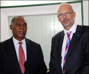 Premier Amory and Ambassador Barfod