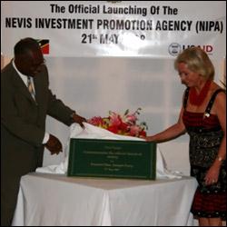 Nevis Premier Parry and US Ambassador Ourisman