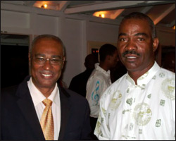 Nevis Premier and Anthony Lewis