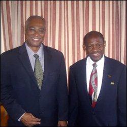 Premier Parry and Prime Minister Douglas
