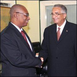 Premier Parry With Ambassador Zurbiaur