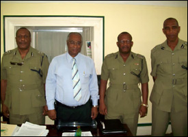 Nevis Premier With Nevis Police