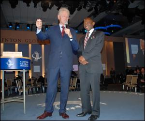 President Clinton and PM Douglas