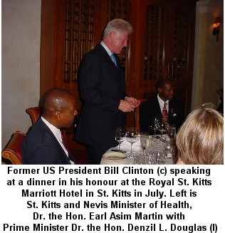 President Clinton In St. Kitts