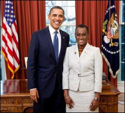 President Obama with Ambassador Henry-Martin