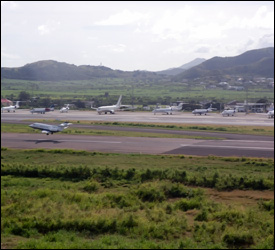Private Jets Lined Up At St. Kitts Airport