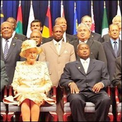 Queen Elizbeth II With CHOGM Leaders