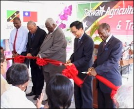 Ribbon Cutting At Agricultural Trade Show