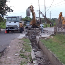 Ongoing Road Work - Newman Road, Nevis