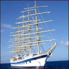The Royal Clipper Anchored In Basseterre Harbour