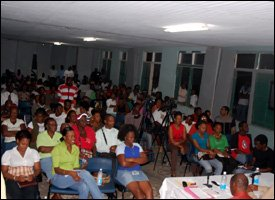 Sandy Point Residents At Town Hall Meeting