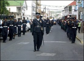 Funeral Procession For Sargeant Francis