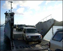 Sea Bridge Ferry - Docking In St. Kitts