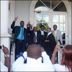 Richards and Legal Team After Boundaries Victory