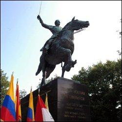 Wreath Laying Ceremony At Simon Bolivar Statue