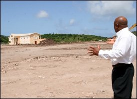 Minister Daniel At New Playfiled Site