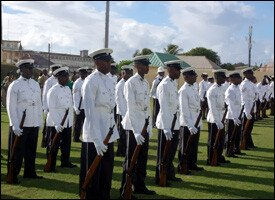 Members of The St. Kitts - Nevis Police Force