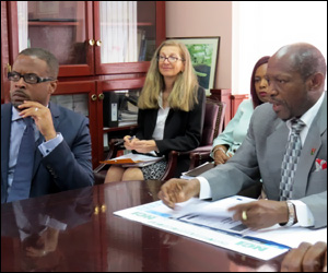 IMF Officials Meet With PM Douglas