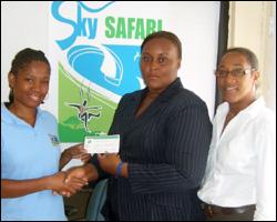 Sky Safari Employee Receives Gift Certificate