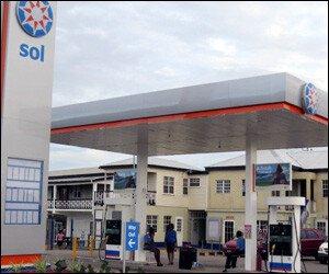 SOL Petrol Station - St. Kitts
