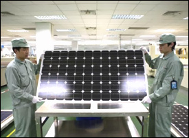 Solar Panels Being Made In Asia