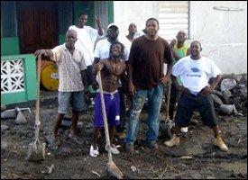 Volunteers Clean Up St. Kitts Community
