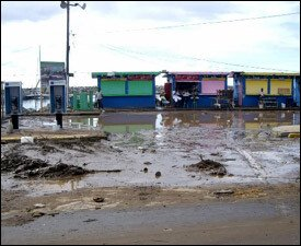 Flooded Areas In St. Kitts