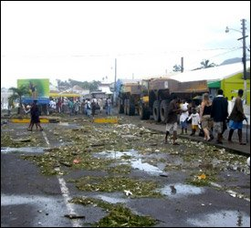 Hurricane Omar Damage In St. Kitts