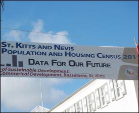 Banner Promoting St. Kitts - Nevis 2011 Census