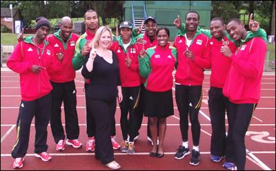 The St. Kitts - Nevis 2012 Olympics Team