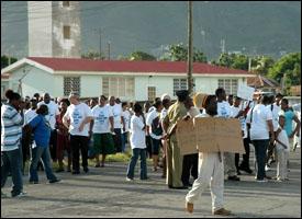 St. Kitts - Nevis Anti-Crime Rally