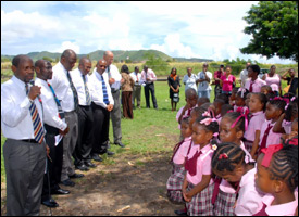 St. Kitts - Nevis' Cabinet Tour Schools