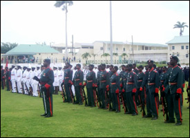 Defence Force Members On Review