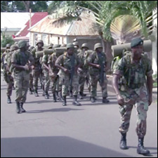 St. Kitts - Nevis Defence Force Marching