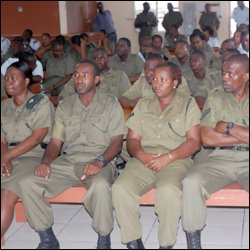 St. Kitts - Nevis Defence Force Soldiers