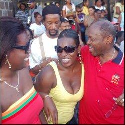 PM Douglas Joins In The Jouvert Celebration