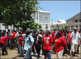 St. Kitts - Nevis Labour Party Supporters