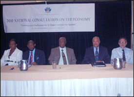 Head Table At 2010 St. Kitts - Nevis National Consultation
