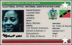 St. Kitts - Nevis National ID Card