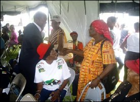 PM Douglas Meets With St. Kitts - Nevis Pensioners