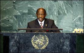 PM Douglas Addresses 63rd UN Session
