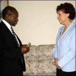 St. Kitts - Nevis PM With Cuban Ambassador