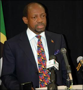 St. Kitts - Nevis Prime Minister Denzil Douglas