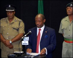 St. Kitts - Nevis PM At Press Conference
