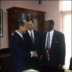 St. Kitts - Nevis PM With Javier-Hou
