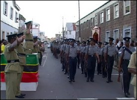 St. Kitts - Nevis Police On Parade