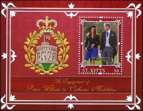 Royal Wedding Souvenier Stamp Sheet