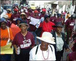 St. Kitts - Nevis Senior Citizens On Parade