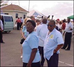 Taxi Drivers Await Fares At Port Zante